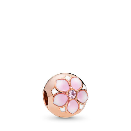 Magnolia Bloom Clip, PANDORA Rose™, Blush Pink Crystal & Mixed Enamel