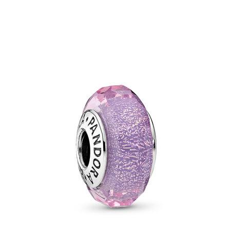 Purple Shimmer, Sterling silver, Glass, Purple - PANDORA - #791651