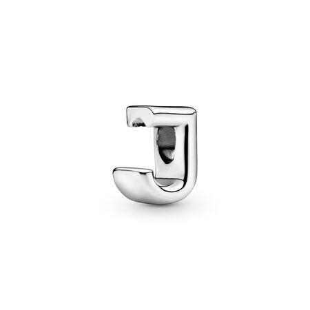 Charm Lettre J, Argent sterling, Aucun autre matériel, Aucune couleur, Aucune pierre - PANDORA - #797464