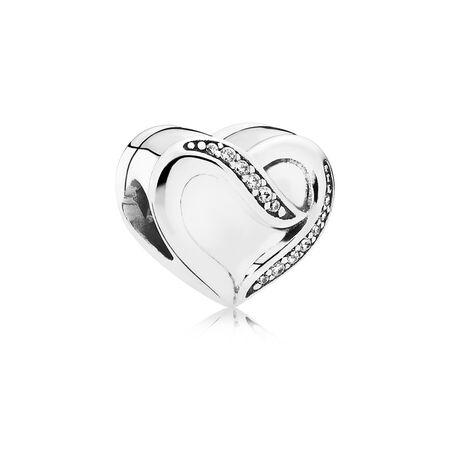 Dreams of Love Charm, Clear CZ, Sterling silver, Cubic Zirconia - PANDORA - #791816CZ