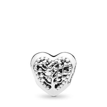 Charm Cœurs florissants, Argent sterling, Aucun autre matériel, Aucune couleur, Aucune pierre - PANDORA - #797058
