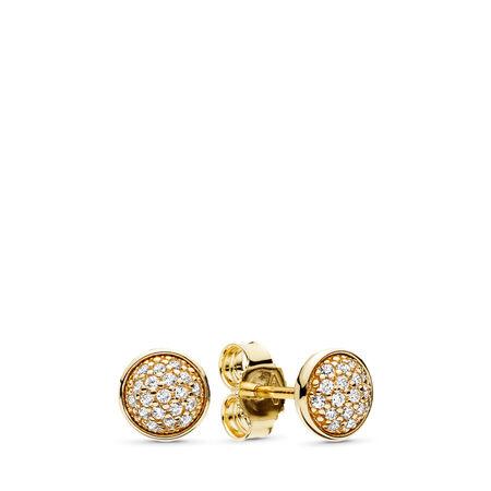 Dazzling Droplets, 14K Gold & Clear CZ