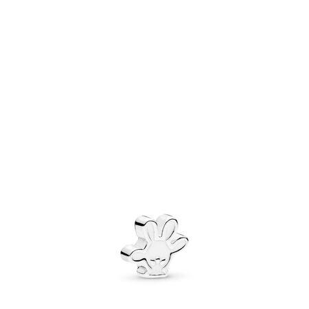 Disney, Mickey Glove Petite Charm, White Enamel, Sterling silver, Enamel, White - PANDORA - #796349EN12