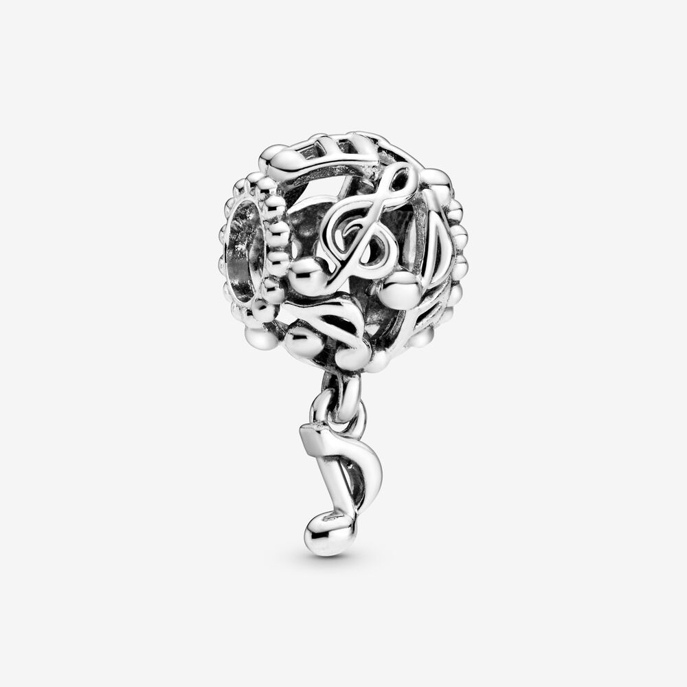 Openwork Music Notes Charm   Sterling silver   Pandora Canada