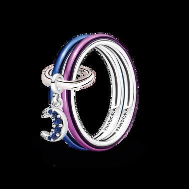 Pandora ME Moon Power Ring Set