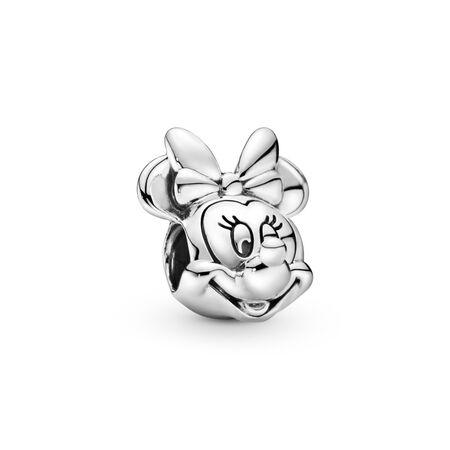 Disney, Portrait de Minnie, Argent sterling, Aucun autre matériel, Aucune couleur, Aucune pierre - PANDORA - #791587