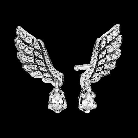 Dangling Angel Wing Stud Earrings