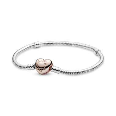 Pandora Moments Heart Clasp Snake Chain Bracelet