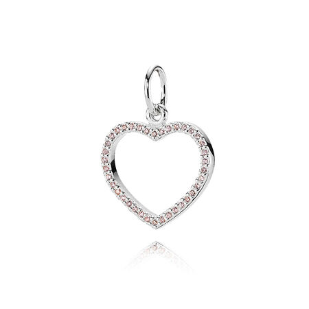 valentine, cz rose poudré, Argent sterling, Aucun autre matériel, Rose, Zircon cubique - PANDORA - #390331PCZ