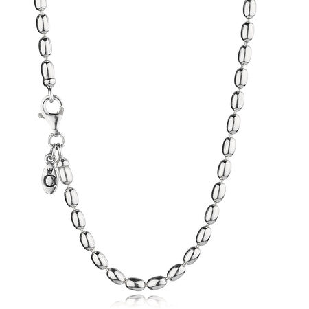 Ball Chain Necklace, Sterling silver - PANDORA - #590143