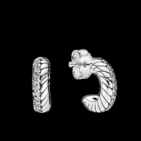 Créoles à motif de chaîne serpentine et à pavé