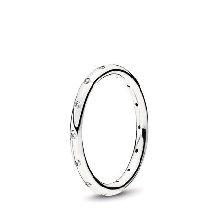 Droplets Stackable Ring, Clear CZ