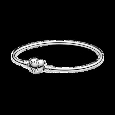 Bracelet rigide à fermoir Cœur PandoraMoments