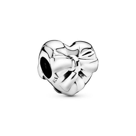 Charm Boucle brillante en cœur, Argent sterling, Aucun autre matériel, Aucune couleur, Aucune pierre - PANDORA - #797303