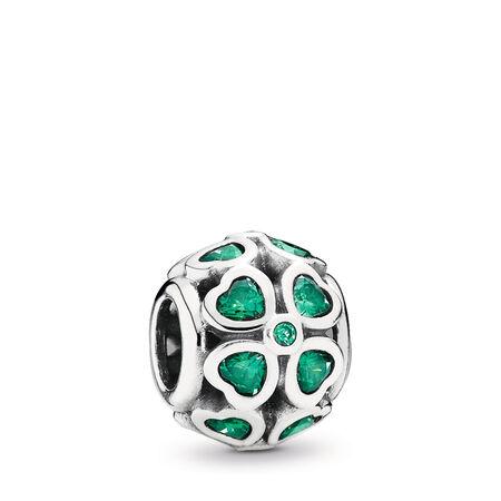 Green Lucky Clover, Dark Green CZ, Sterling silver, Green, Cubic Zirconia - PANDORA - #791496CZN