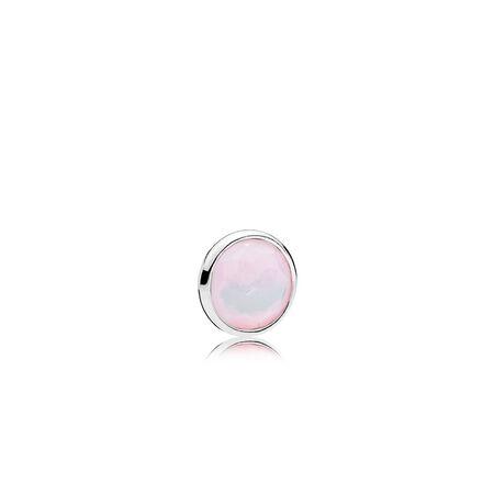 October Droplet Petite, Opalescent Pink Crystal