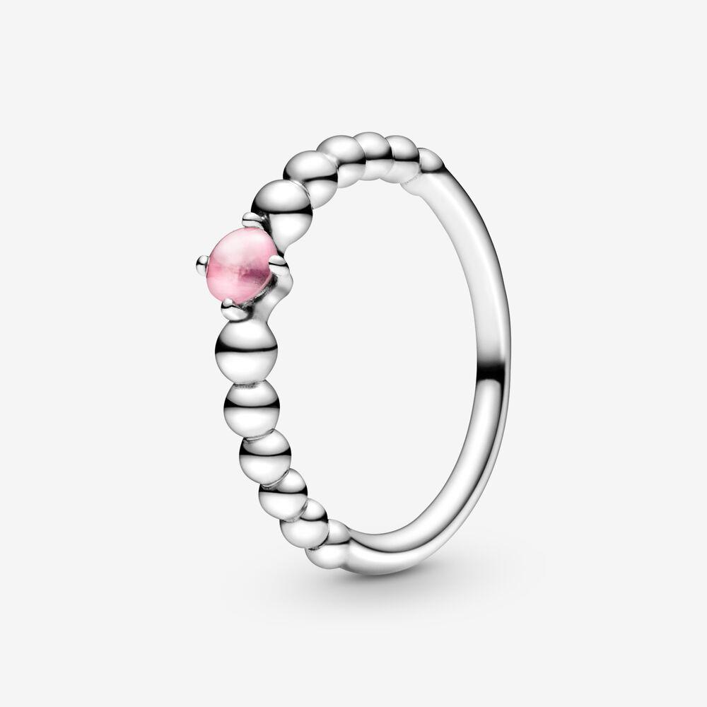 Bague perlée rose pétale d'octobre   Argent sterling   Pandora Canada