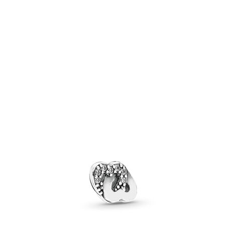 Mini destin de l'amour, cz incolore, Argent sterling, Aucun autre matériel, Aucune couleur, Zircon cubique - PANDORA - #792164CZ