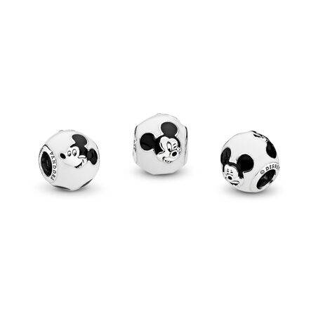 Charm Disney, Mickey s'exprime, émail blanc et noir