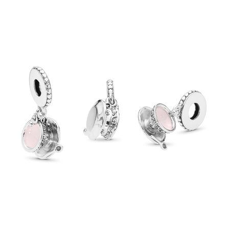 Charm pendentif Tasse de thé enchantée, émail rose pâle, Argent sterling, émail, Rose, Aucune pierre - PANDORA - #797064EN160