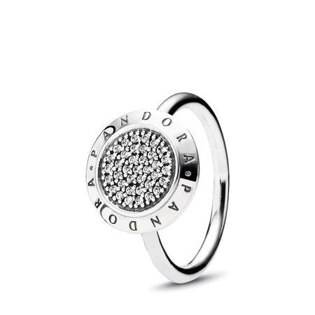 PANDORA Signature Pavé Ring, Clear CZ, Sterling silver, Cubic Zirconia - PANDORA - #190912CZ