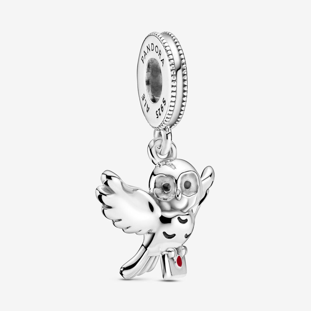 Harry Potter, Hedwig Owl Dangle Charm   Sterling silver   Pandora ...