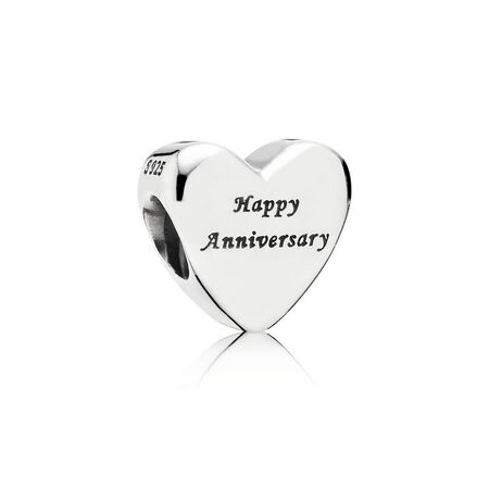 Happy Anniversary, Silver & Gold Charm