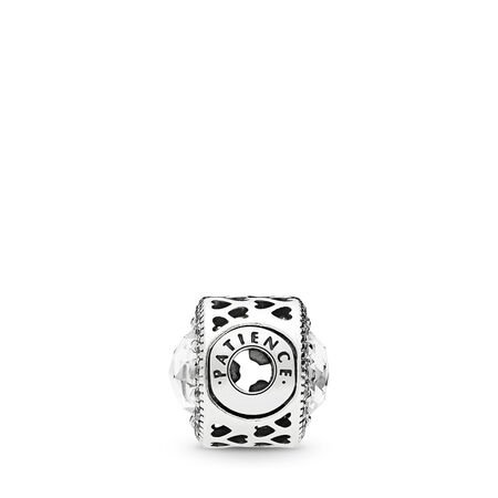 PATIENCE, Clear CZ, Sterling silver, Silicone, Cubic Zirconia - PANDORA - #796298CZ