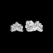 Clous d'oreilles en forme d'os des vœux avec tiare