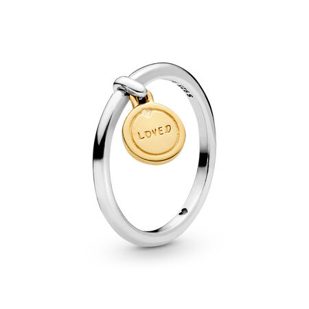 Medallion of Love Ring, PANDORA Shine and sterling silver - PANDORA - #167823