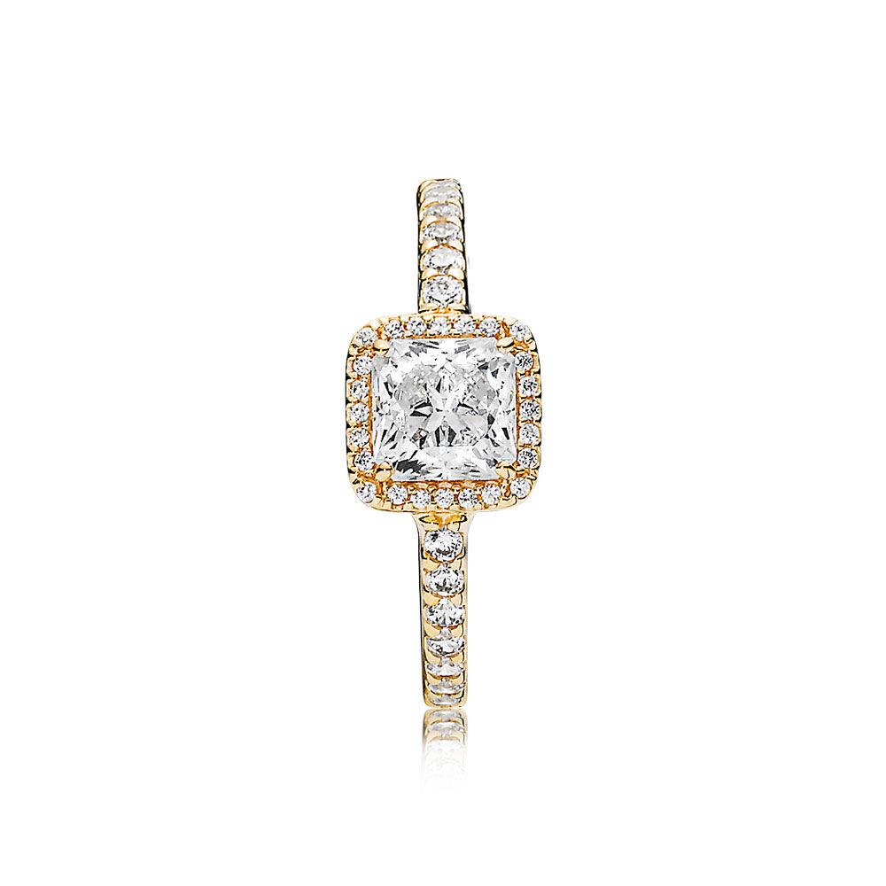 Timeless Elegance 14k Gold Amp Clear Cz Pandora Jewellery