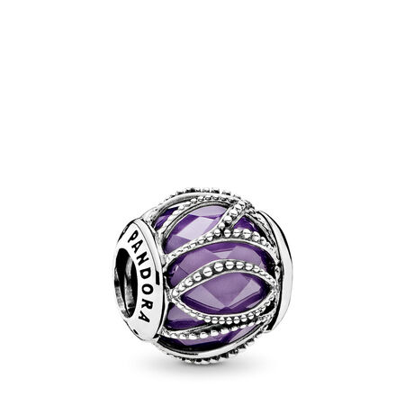 Intertwining Radiance, Purple & Clear CZ