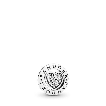 Mini Cœur Signature PANDORA, Argent sterling, Aucun autre matériel, Aucune couleur, Zircon cubique - PANDORA - #797048CZ