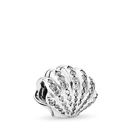 Disney, Ariel's Shell, Sterling silver, Cubic Zirconia - PANDORA - #791574CZ