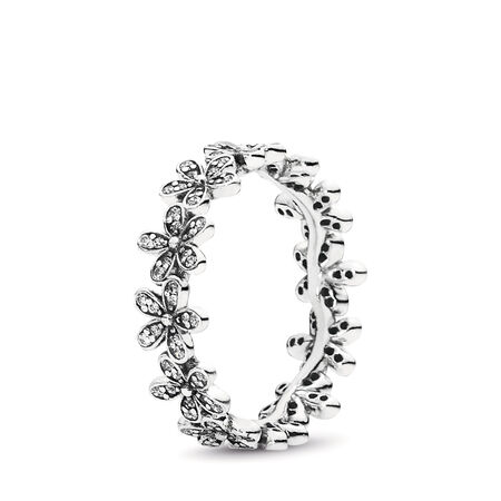Dazzling Daisy Meadow Stackable Ring, Clear CZ