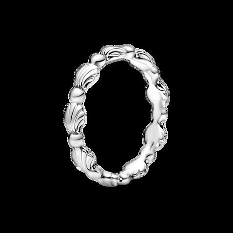 Anneau perlé Coquillages