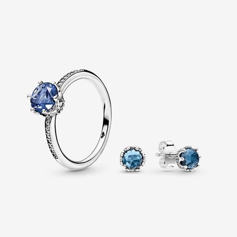 Blue Sparkling Crown Set