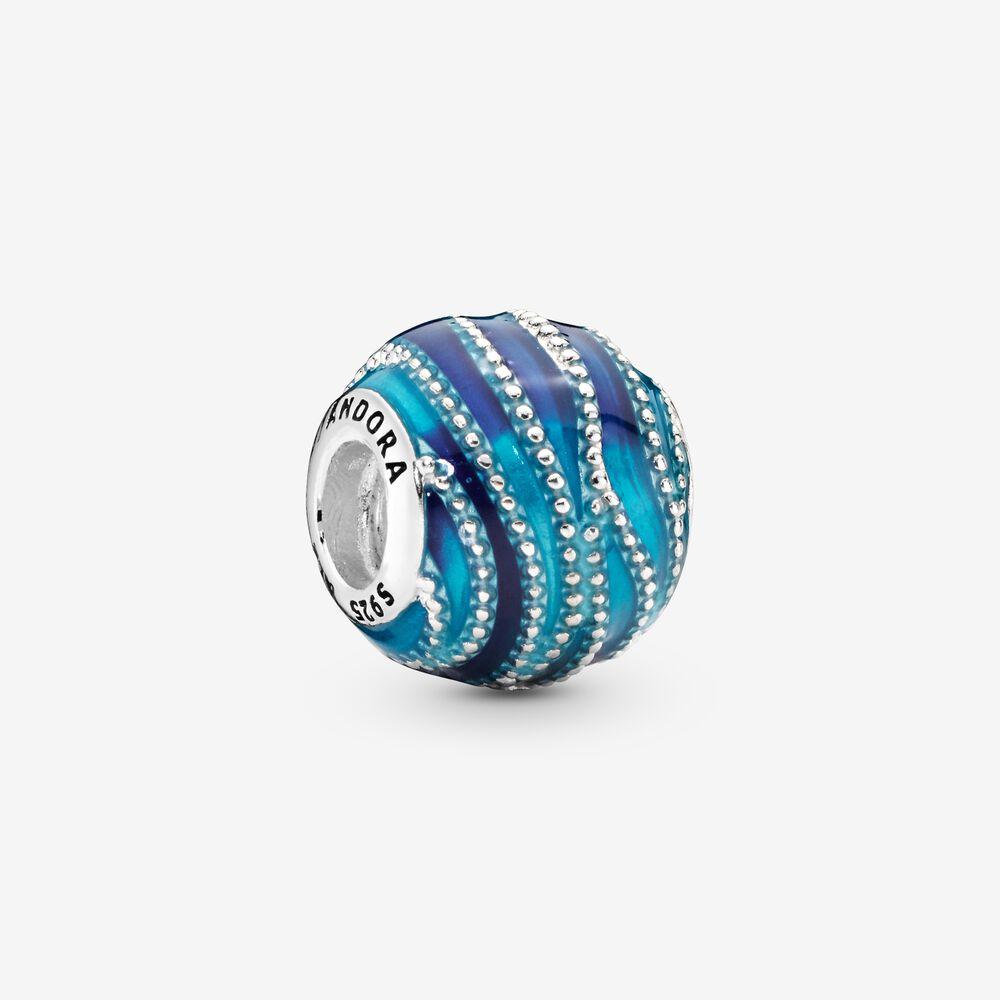 Blue Wave Charm | Sterling silver | Pandora Canada