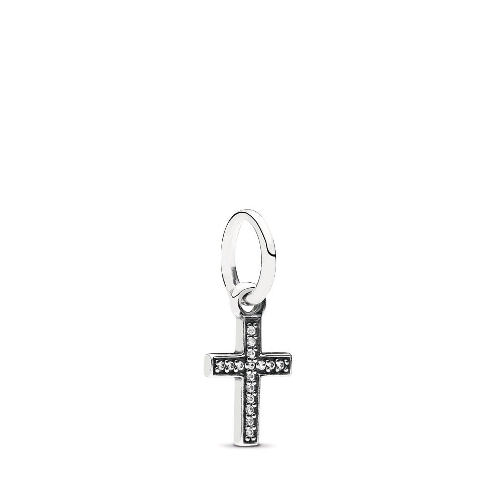 ae470cc2c Symbol Of Faith Cross, Clear CZ, Sterling silver, Cubic Zirconia - PANDORA -