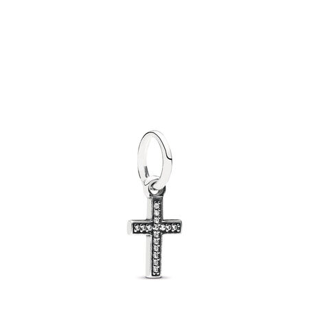 Symbol Of Faith Cross, Clear CZ, Sterling silver, Cubic Zirconia - PANDORA - #791310CZ