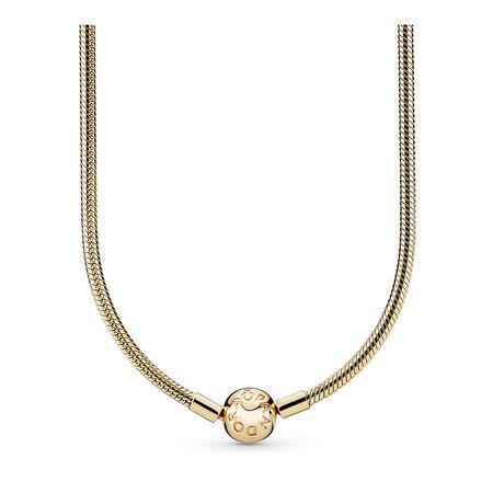 Collier en or 14 carats avec fermoir signature en or 14 carats, Or jaune 14 ct, Aucun autre matériel, Aucune couleur, Aucune pierre - PANDORA - #550742