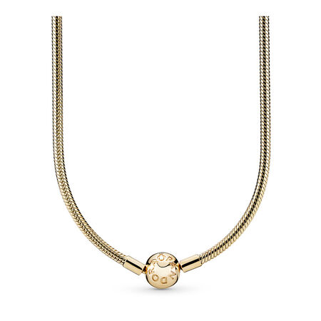14K Gold Charm Necklace, Yellow Gold 14 k - PANDORA - #550742