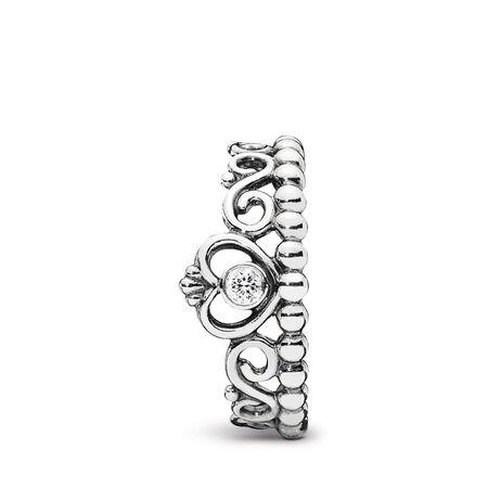 My Princess Tiara Ring, Clear CZ