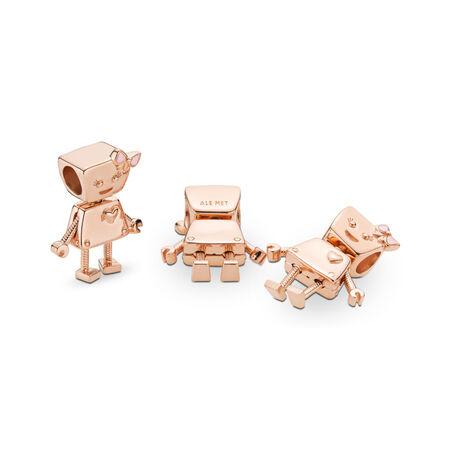 Bella Bot Charm, PANDORA Rose™, PANDORA Rose, Enamel, Pink - PANDORA - #787141EN160