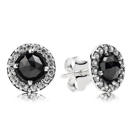 Héritage glamour, spinelle noir et cz incolore