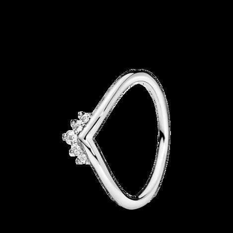 Bague en forme d'os des vœux avec tiare