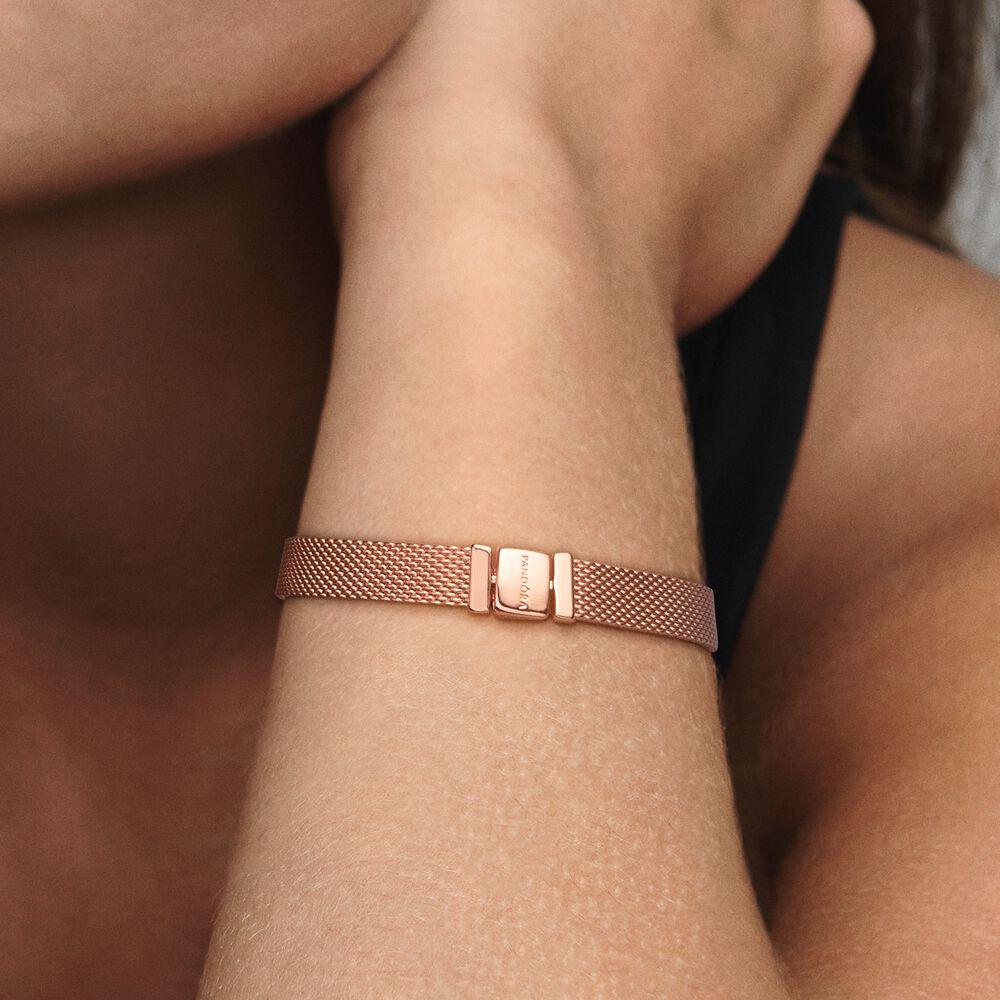 Pandora Reflexions Mesh Bracelet   Rose gold plated   Pandora Canada