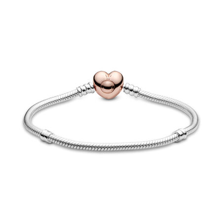 Moments Heart & Snake Chain Bracelet
