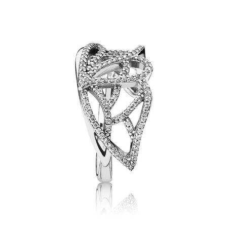 New Beginning Butterfly Ring, Clear CZ