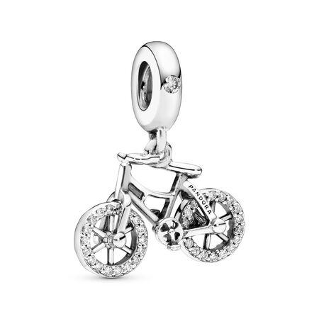 Charm-pendentif Vélo brillant, Argent sterling, Aucun autre matériel, Aucune couleur, Zircon cubique - PANDORA - #797858CZ